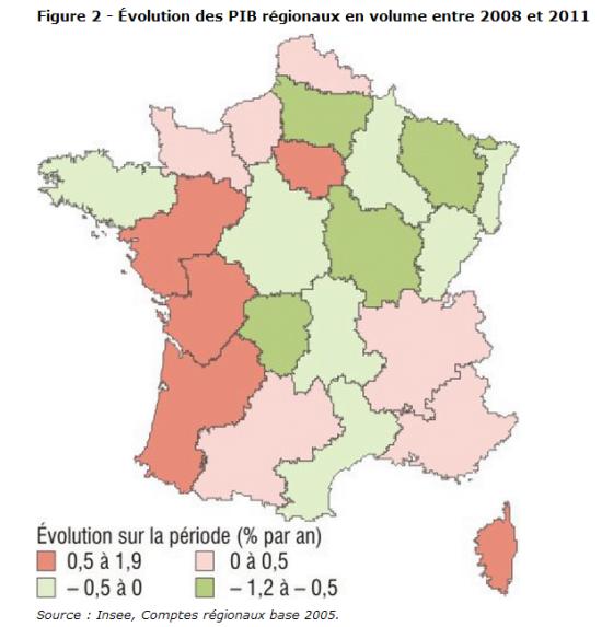 Regional GDP 2008-11